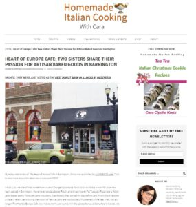 The Heart Of Europe Cafe Barrington - Homemade Italian Cooking