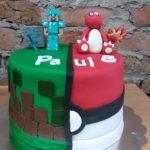 Minecraft / Pokemon Cake