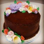 Handmade Flower German Chocolate Cake