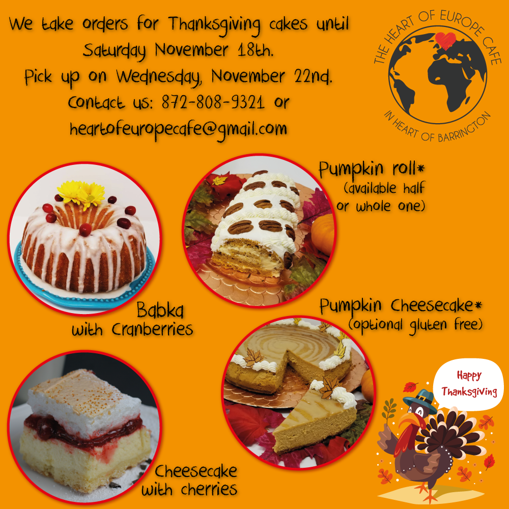 Thanksgiving 2017 – Cakes to order! Thumbnail